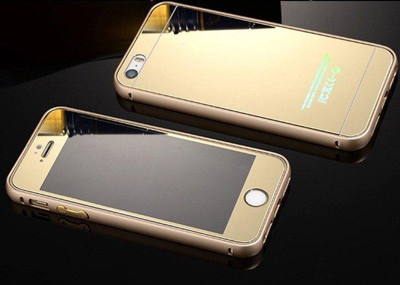 Комплект Стекла для Iphone 6/6S + бампер, gold
