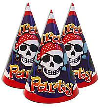 """Колпачки 5 шт колпаки праздничные, маленькие """" Пираты """" 1559"""