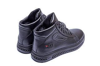 Мужские зимние кожаные ботинки в стиле FILA, фото 3