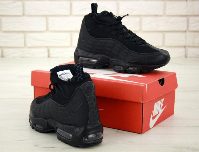 Зимние кроссовки Nike Air Max 95 Sneakerboot Black Waterproof фото