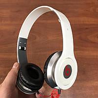Накладные проводные наушники Beats Solo by Dr Dre Monster белые, фото 1
