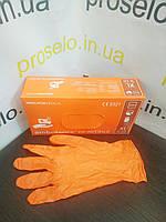 """Перчатки амбулаторные медицинские.""""Ambulance Orange"""".Гипоаллергенные. Упаковка 100шт. Латекс.. Польша, фото 1"""