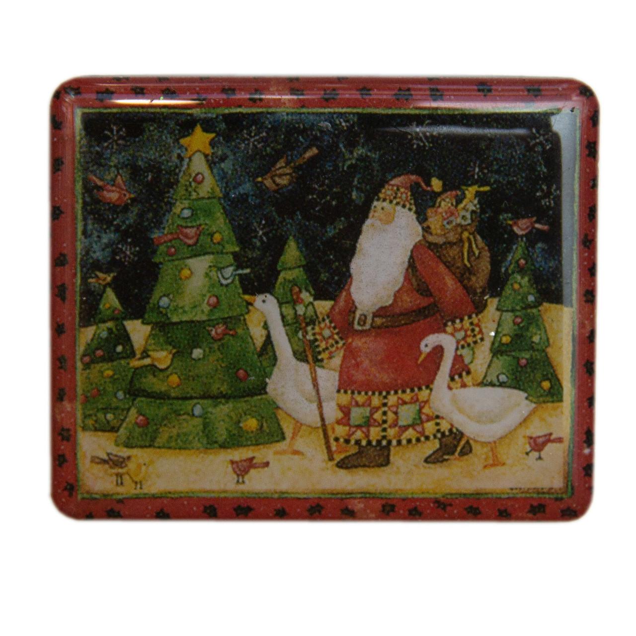 Магнит с декором Дед Мороз и гуси, 5,5*4,5см (012183-3)