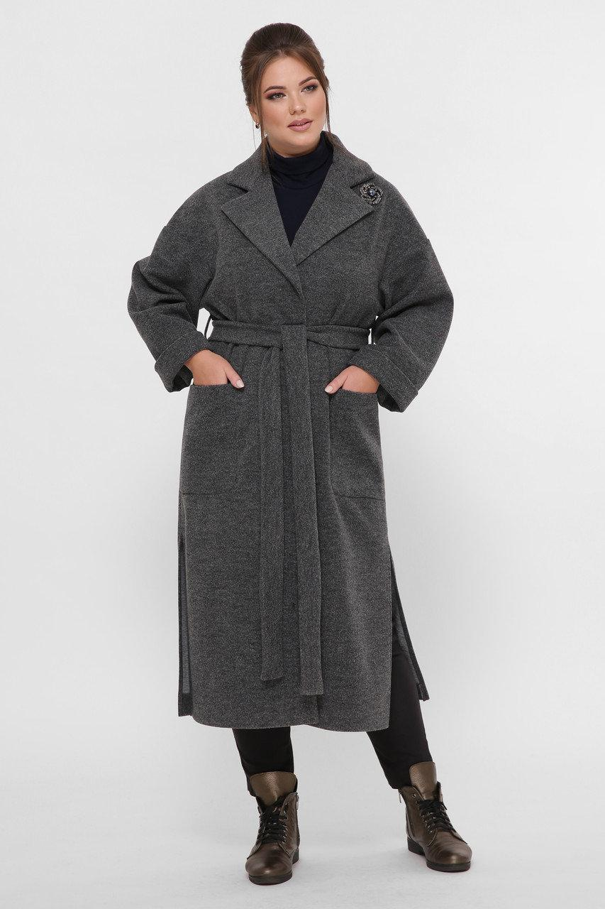 Пальто женское свободного стиля Алеся (48-58)
