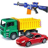 Машинки, модели техники, оружие