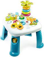 Детский игровой столик Цветочек со звуковыми и световыми эффектами сине-белый Smoby Cotoons, фото 1