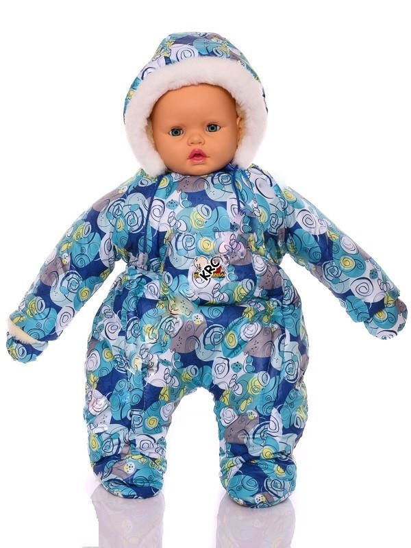 Зимний комбинезон для новорожденных (0-6 месяцев) синяя галактика