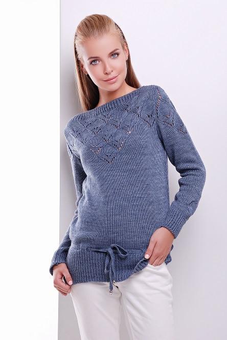 Молодежный свитер 20 светлый джинс (44-50)