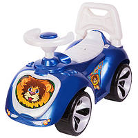 "Машинка каталка ""ЛАПКА"" синяя, толокар для детей, возраст от 3 лет (758)"