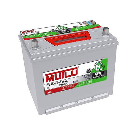 MUTLU 6СТ-72 АзЕ ASIA EFB.D26.72.076.C Автомобильный аккумулятор, фото 2