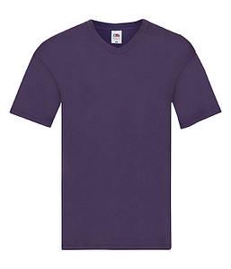 Мужская тонкая футболка с v образным вырезом 2XL, PE Фиолетовый