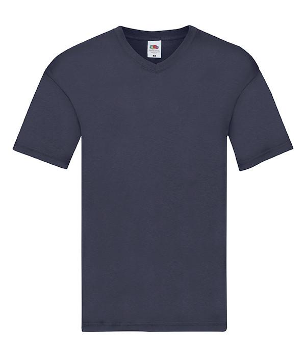 Мужская тонкая футболка с v образным вырезом 2XL, AZ Глубокий Темно-Синий