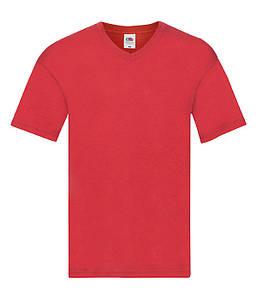 Мужская тонкая футболка с v образным вырезом 3XL, 40 Красный