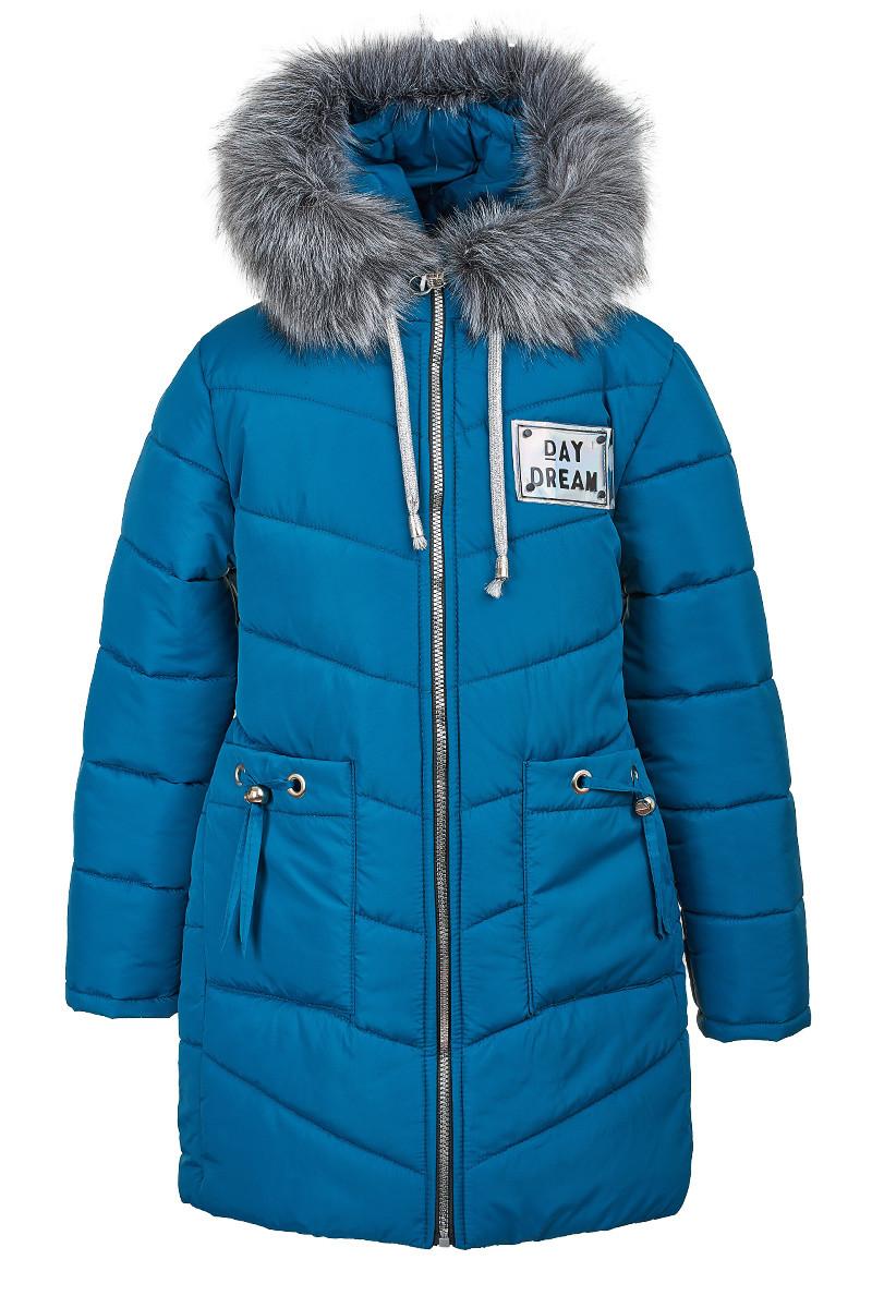 Зимняя куртка розового цвета на девочку-подростка 6-10 лет, 2143