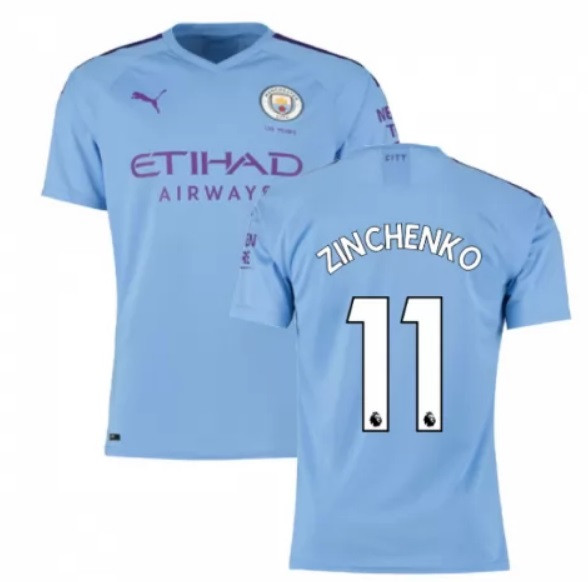 Футбольная форма Манчестер Сити ZINCHENKO 11 сезон 2019-2020 основная голубая