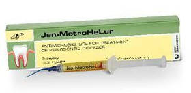 Jen-MetroHeLur (Джен-Метрогелур), антимикробный гель для лечения заболеваний пародонта, 2 мл