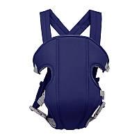 Рюкзак-слинг сумка кенгуру для переноски ребенка Baby Carriers 3-16 месяцев 4 положения синий