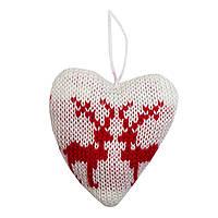 Елочное украшение - сердце, 10 см (430062-2)
