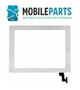 Сенсор (Тачскрин) для планшета Apple iPad 2 A1395 | A1396 | A1397 с кнопкой home (Белый) Оригинал Китай