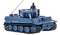 Танк на радиоуправлении Tiger 1:72 с вращающейся башней и отдачей при выстреле со звуком и светом, фото 1