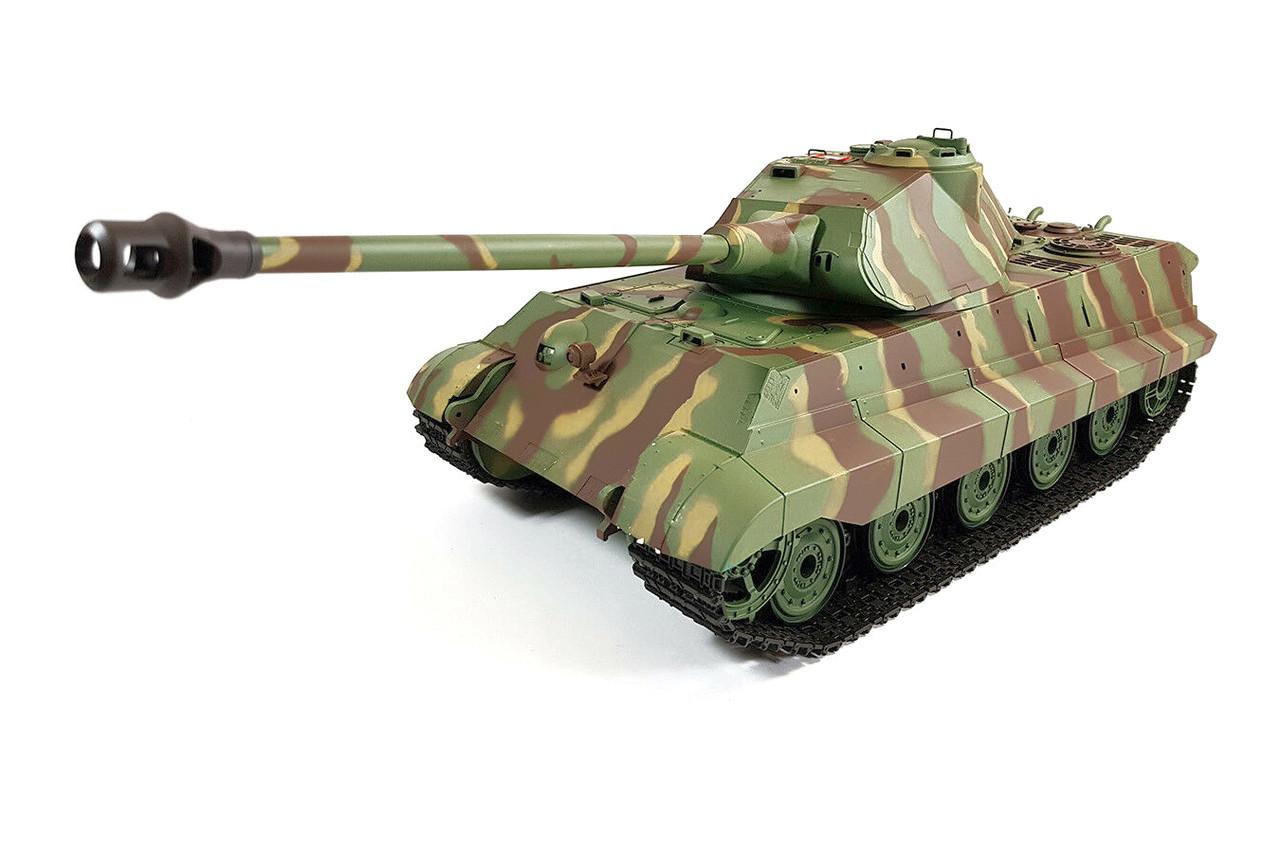 Танк на радіокеруванні 1:16 Heng Long King Tiger Porsche з пневмопушкой та/до боєм