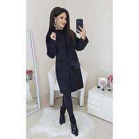 Пальто на зиму черного цвета 42,44,46 р-р.