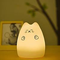 """Детский мягкий силиконовый ночник """"Котик с лапками"""""""