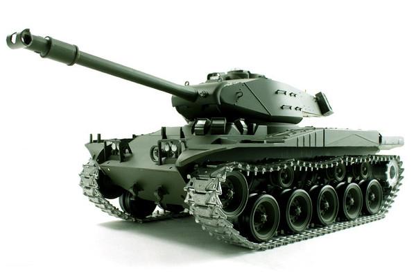 Танк р/у 1:16 Heng Long Bulldog M41A3 с пневмопушкой и и/к боем (HL3839-1)