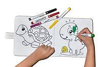 Фломастеры для малышей набор 10 шт. с мягкой моющейся книжкой раскраской из текстиля MALINOS Babyzauber