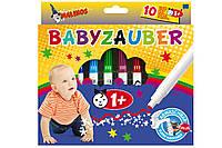 Фломастеры для самых маленьких нетоксичные на водной основе набор 10 шт. MALINOS Babyzauber