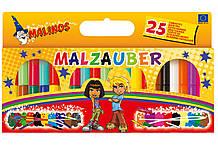 Фломастеры волшебные меняющие цвет смывающиеся нетоксичные MALINOS Malzauber 25 (12+9+4) шт