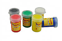Пальчиковые краски безопасные непроливаемые 6 цветов MALINOS Fingerfarben, фото 1