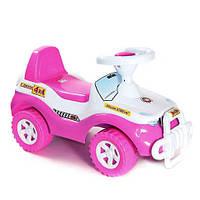"""Каталка """"Джипик"""" розовая, толокар для детей, возраст от 3 лет (105Д)"""