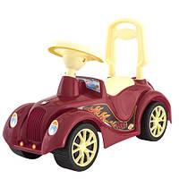 """Машинка-каталка """"Ретро"""" бордовая, толокар для детей, возраст от 3 лет (900)"""