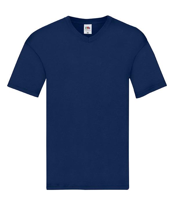 Чоловіча тонка футболка з v-подібним вирізом S, 32 Темно-Синій