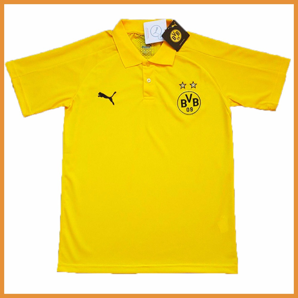Футбольная футболка поло Боруссия Дортмунд желтая S