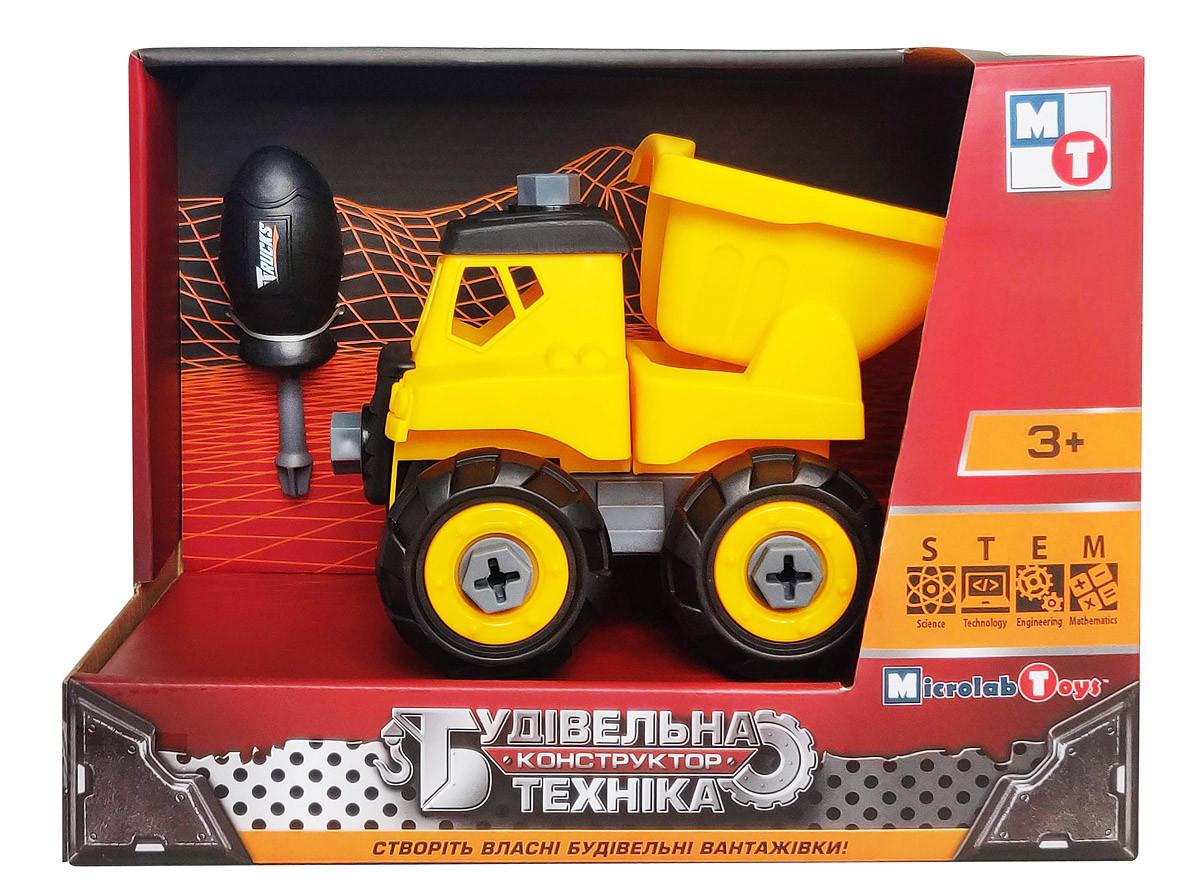 Развивающий конструктор Грузовик ТМ Будівельна техніка Microlab Toys (MT8906A)