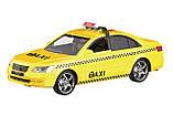 Машинка инерционная 1:16 Wenyi Такси со звуком и светом, фото 2