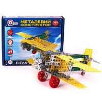 Конструктор металлический Самолёт би-план Техн.4791