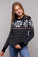 Вязаный теплый женский свитер с красивым узором