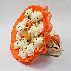 Букет из игрушек Мишки 9 оранжевый 5321IT