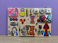 "Розвиваючий ""Бизиборд"" busy board ""Misha"" 60*40 см, фото 2"