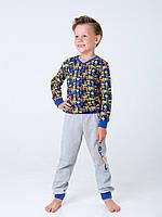Пижама с начесом для мальчика Смил, арт. 104419, возраст от 7 до 10 лет