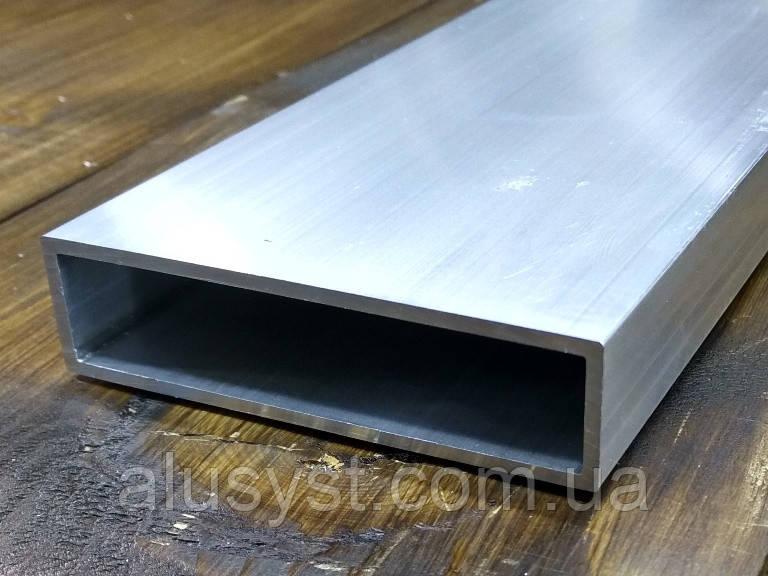 Алюминиевая труба 80х20х2 прямоугольного сечения  / б.п