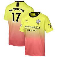 Футбольная форма Манчестер Сити DE BRUYNE 17 сезон 2019-2020 резервная желтая, фото 1