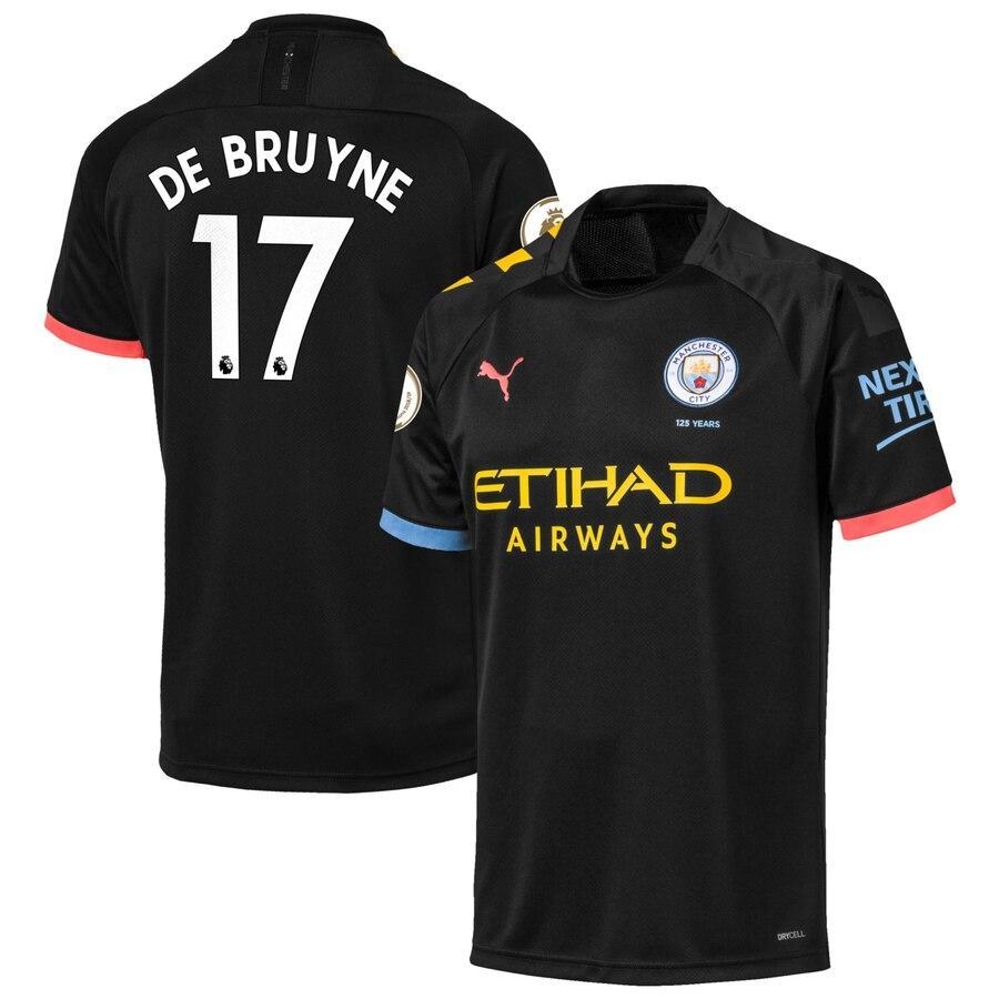 Детская футбольная форма Манчестер Сити DE BRUYNE 17 сезон 2019-2020 выездная черная