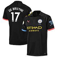 Детская футбольная форма Манчестер Сити DE BRUYNE 17 сезон 2019-2020 выездная черная, фото 1
