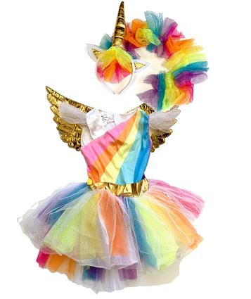 Костюм детский карнавальный Единорог , рост 92-104 см (EЕ392A)