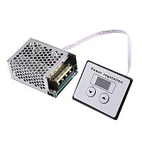 Диммер с дисплеем, Регулятор напряжения AC 4000Вт, 220В, фото 1