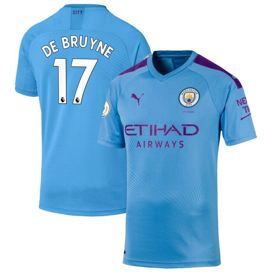Детская футбольная форма Манчестер Сити DE BRUYNE 17 сезон 2019-2020 основная голубая